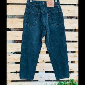 Vintage High waisted Levi's 550 black  jeans .